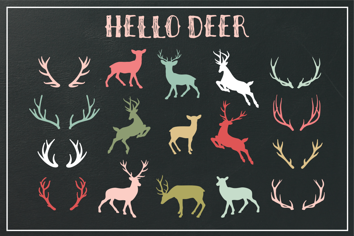 deer and antler silhouettes