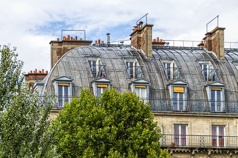 Mansard of paris architecture photos on creative market for Mansard architecture