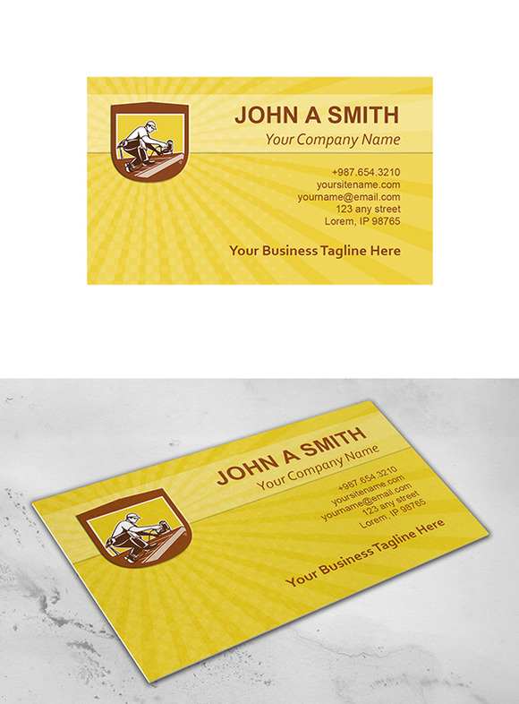 Business Card Template Roofer Roofin Business Card