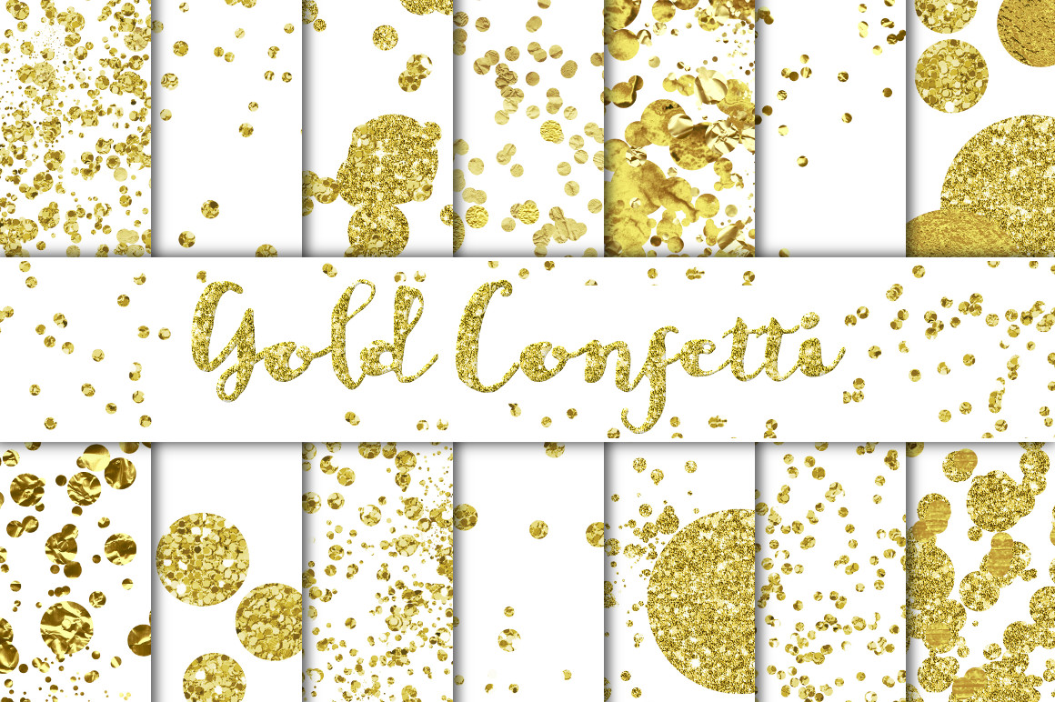 Gold Confetti Overlays Backgrounds Textures On Creative