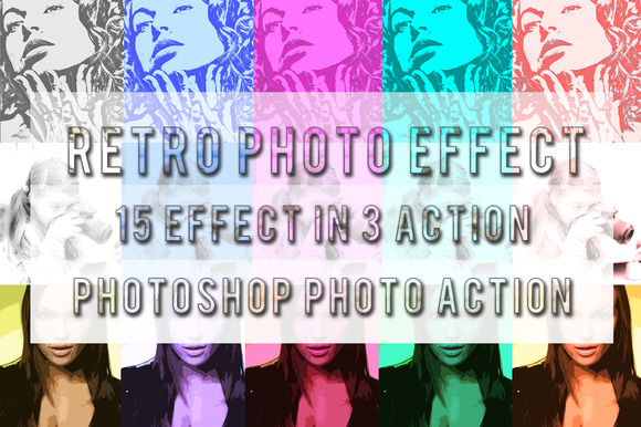 Retro Photo Action - Actions - 1