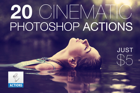 20 Cinematic Photoshop Actions Pack - Actions - 1