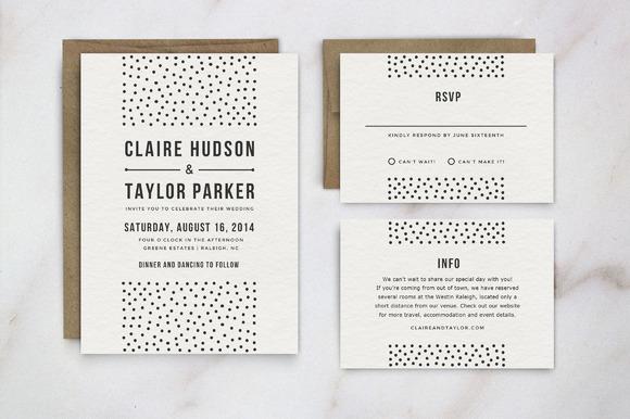 Wedding Invitation Template Suite