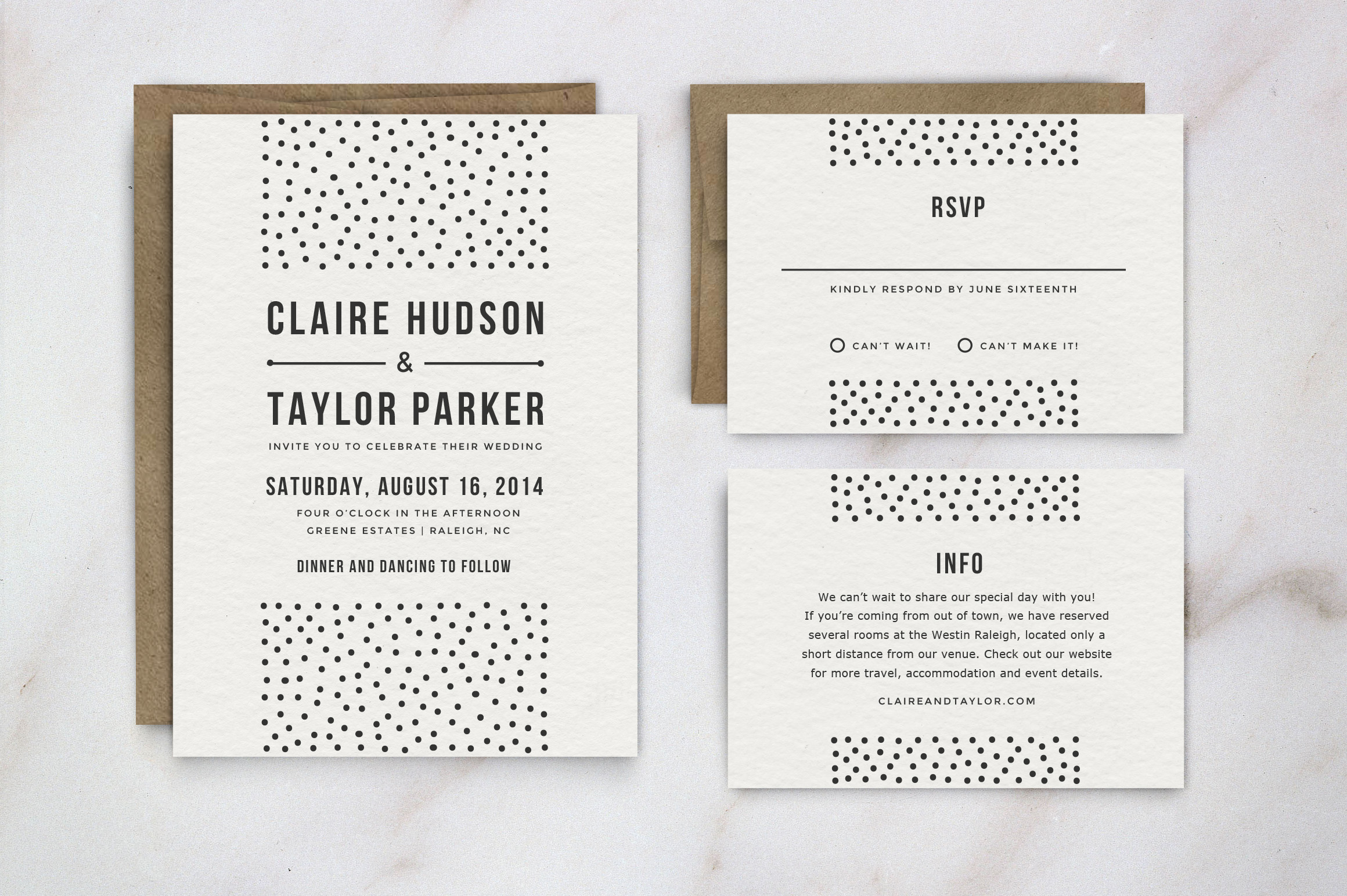 Customizable Wedding Invitation Templates: Wedding Invitation Template Suite