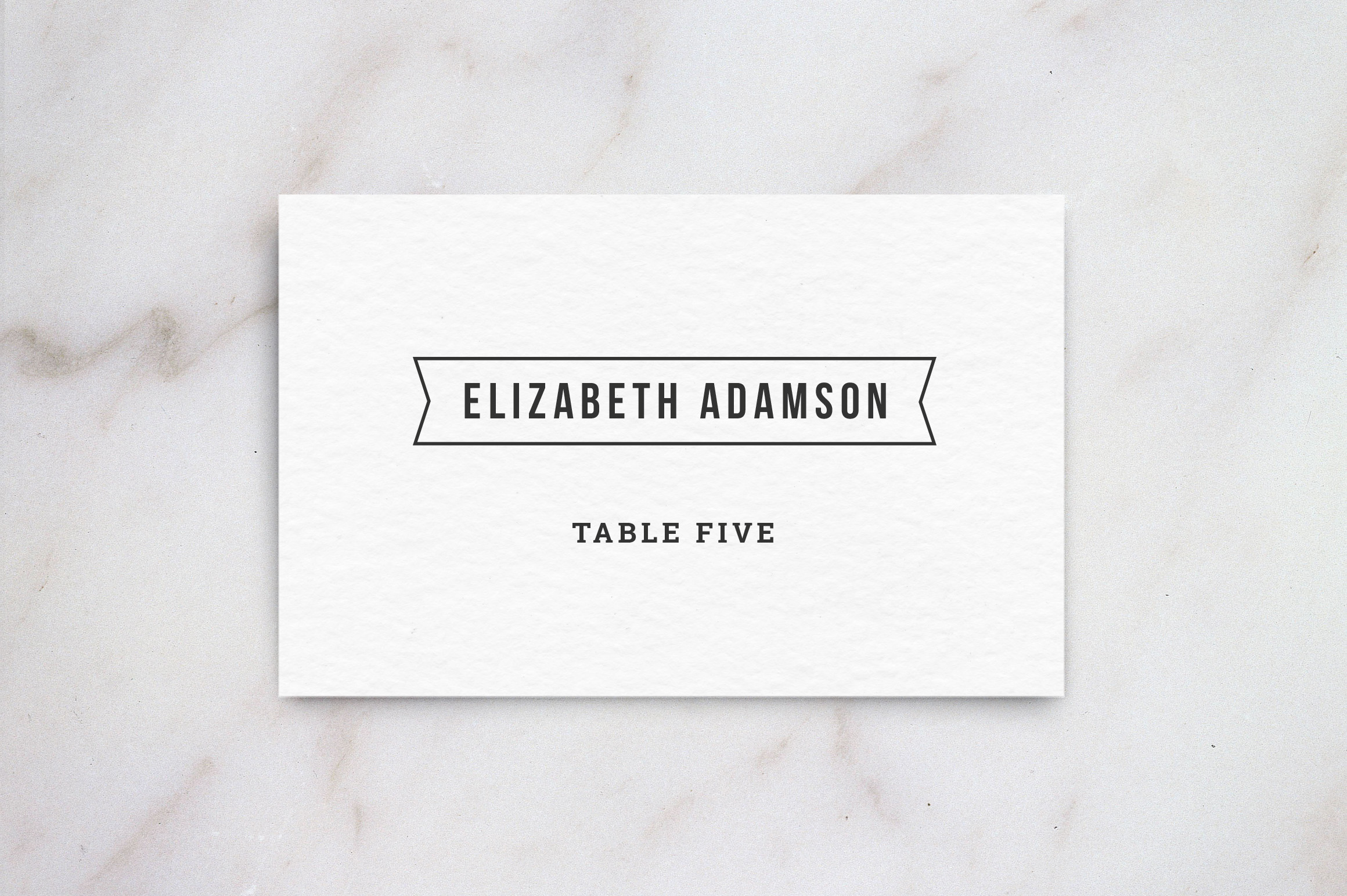 Wedding Table Place Card Template ~ Card Templates on ...