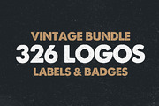 MEGA BUNDLE 326 Vintage Log-Graphicriver中文最全的素材分享平台