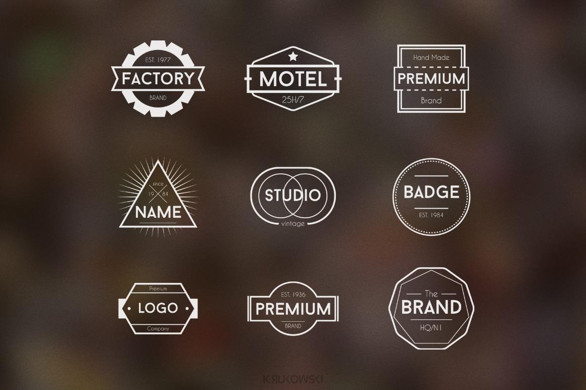 simple badge logos logo templates on creative market