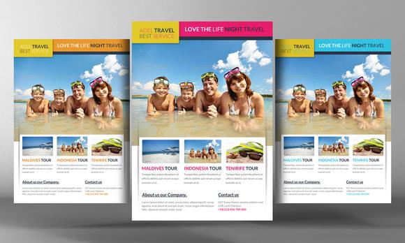 Unique Travel Agency Travel Agency Marketing Flyer