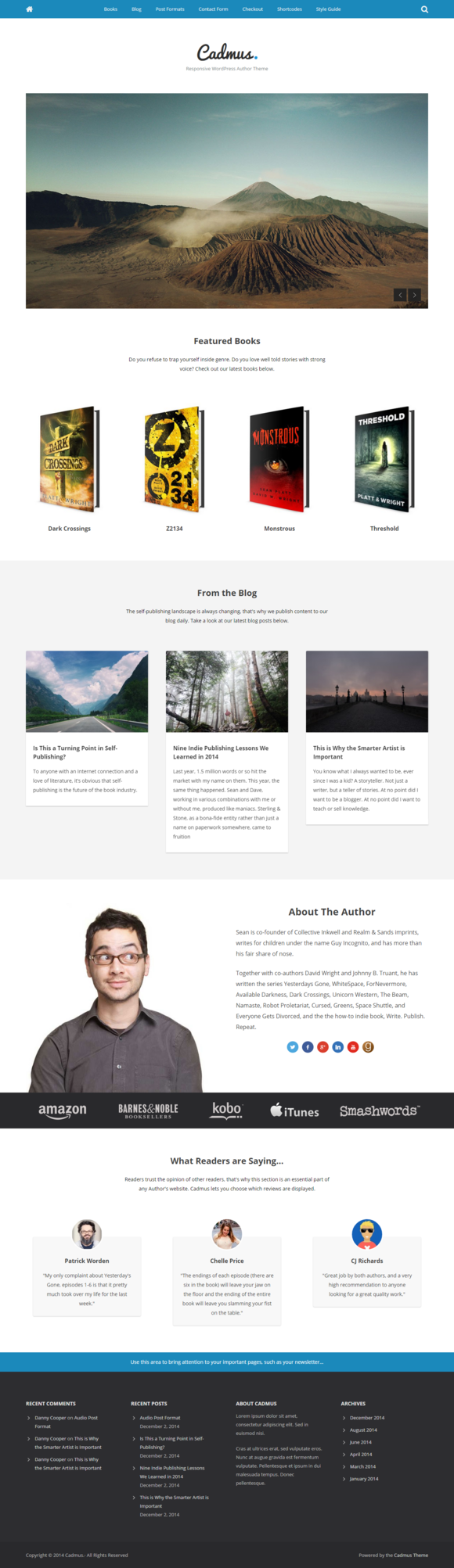Cadmus - WordPress Theme for Authors
