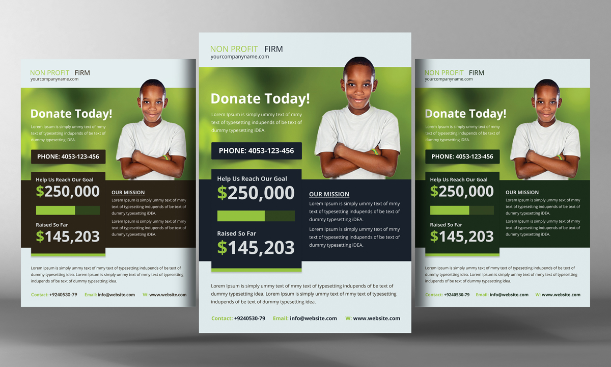 church charity donation flyer flyer templates on creative market. Black Bedroom Furniture Sets. Home Design Ideas