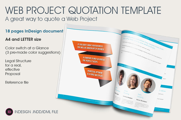 Web project quotation template brochure templates on for Brochure design quotation