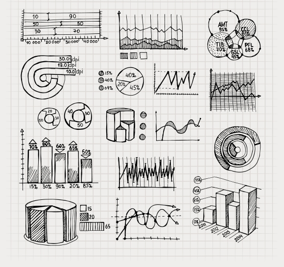 hand drawn business charts ~ Icons on Creative Market
