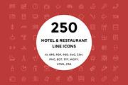 250 Hotel and Restaurant Li-Graphicriver中文最全的素材分享平台