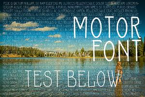 MOTOR 6 Fonts