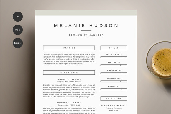 Pages Resume Template  Resume Format Download Pdf