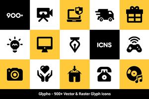 Glypho - 900+ Vector Glyph Icons