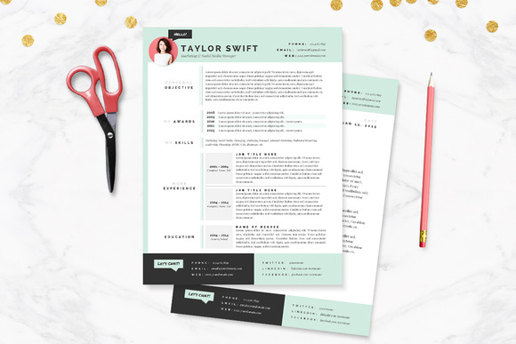 Mint Resume & Cover Letter Template - Resumes - 1