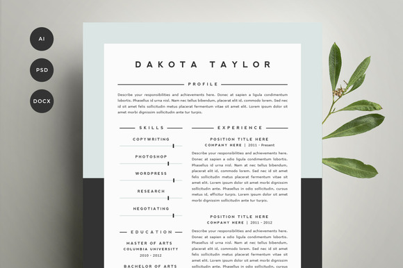 Image Result For Award Winning Resume Template