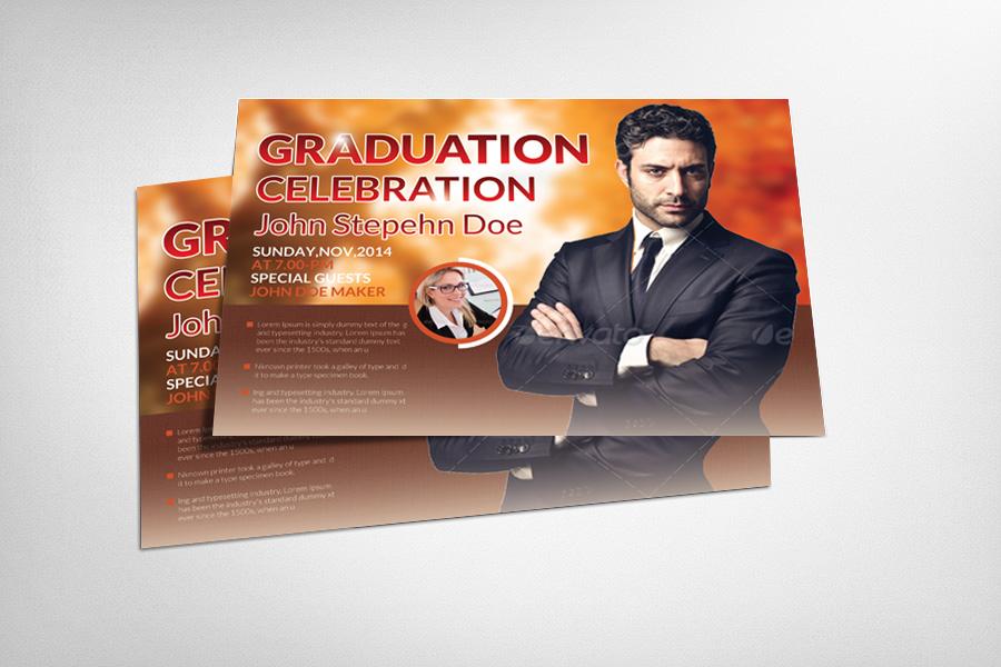 Pastor 39 s graduation ceremony flyer flyer templates on for Graduation brochure templates