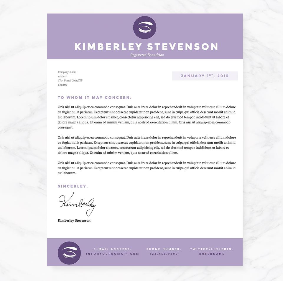 crisp purple resume template package