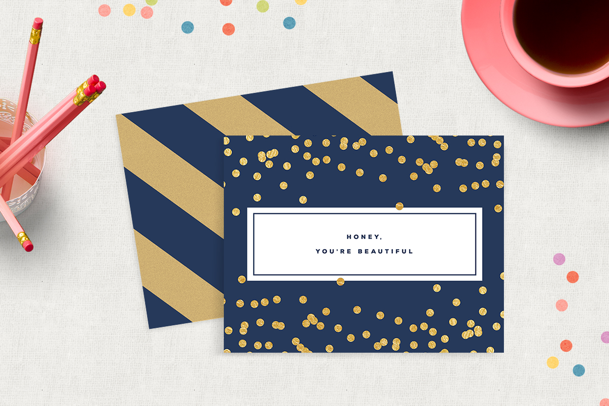 printable just because greeting card  stationery