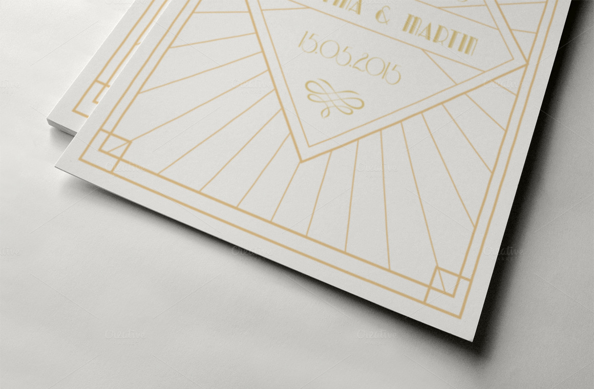 art deco save the date ii