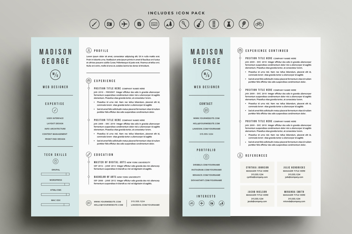 resume  u0026 cover letter template