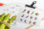 Set of 48 Fruit & Vegetable-Graphicriver中文最全的素材分享平台