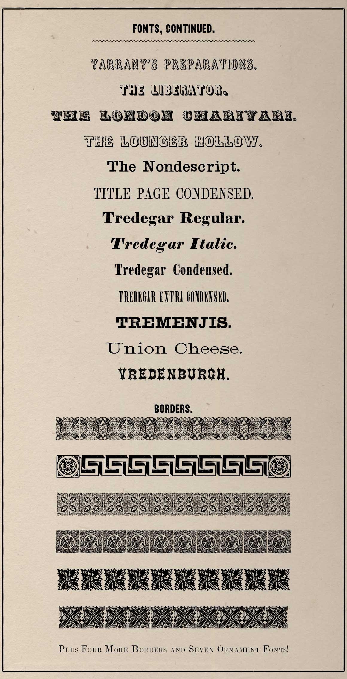 60 fonts from the civil war era