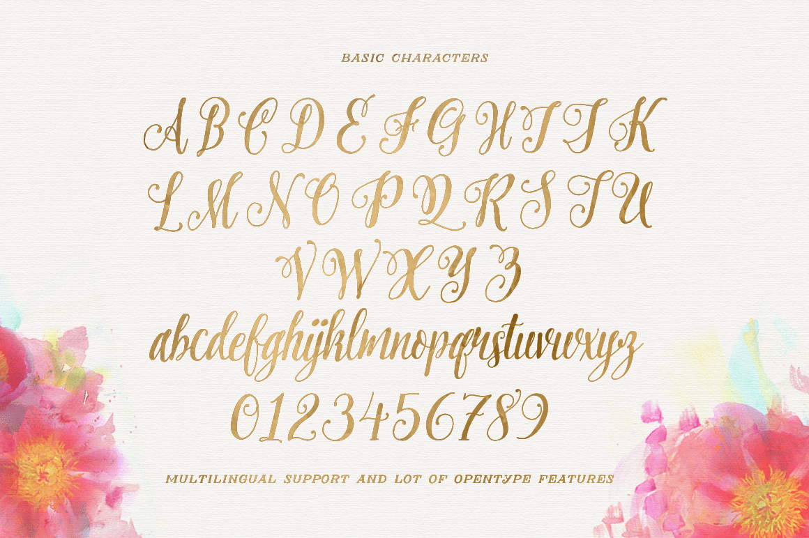 Pretty script off fonts on creative market