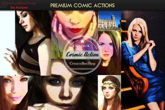 Premium Comic Actions-Pack of Six - Actions - 1