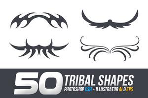 50 Tribal Custom Shapes