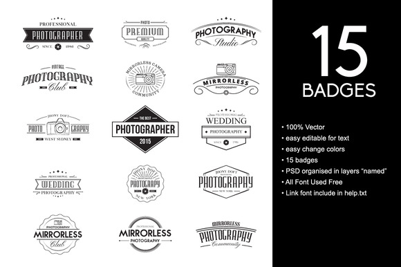 Photography Badges Vintage Badges For Photography