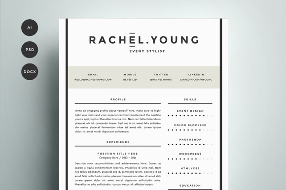 resume template  pack  resume template cv template editable in ms    design resume template