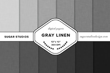 Gray Linen Digital Background Set