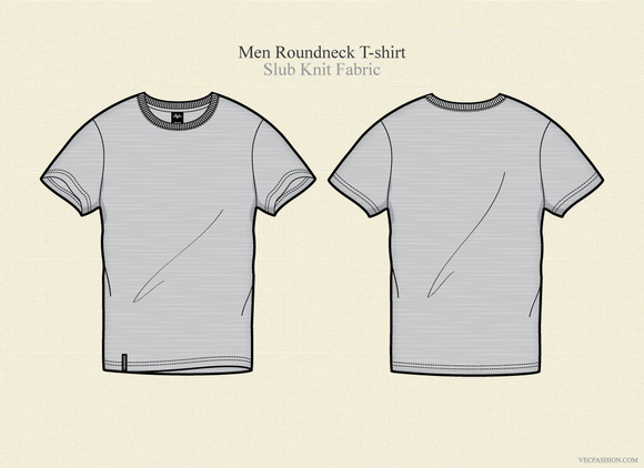 men round neck t shirt vector illustrations on creative market. Black Bedroom Furniture Sets. Home Design Ideas
