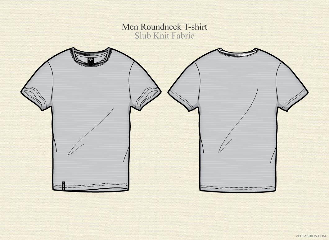 men round neck t shirt vector illustrations on creative market. Black Bedroom Furniture Sets. Home Design Ideas