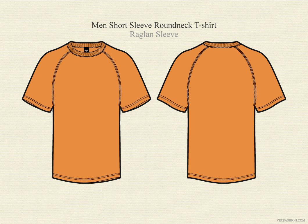 men raglan sleeve round neck t shirt illustrations on creative market. Black Bedroom Furniture Sets. Home Design Ideas