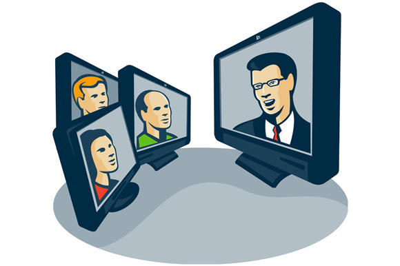 Webinar Video Conference Retro ~ Illustrations on Creative ...