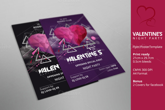 Valentine's day party poster/flyer - Flyers - 1
