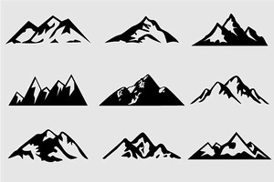 Mountain Shapes For Logos Vol 4