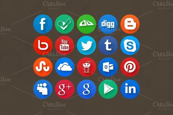 Shadow Circle Social Icons