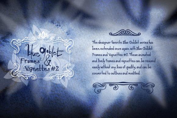 Blue Goblet Frames And Vignettes 2