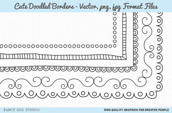 Square Doodle Borders With Vectors
