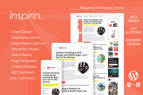 Inspirin Blogging Wordpress Theme