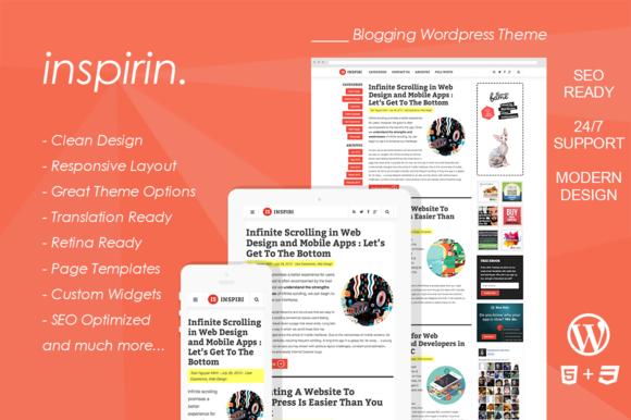 Inspirin : Blogging WordPress Theme ~ WordPress Themes  Free Download
