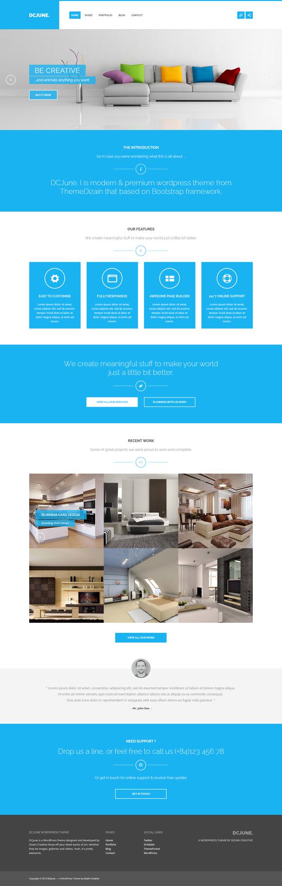 DPJuly – Responsive WordPress Theme ~ WordPress Themes  Free Download