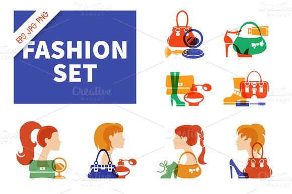 Set Of Fashion Icons Symbols