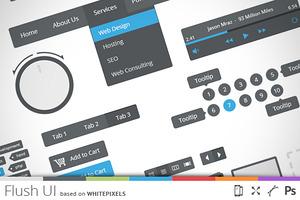 Flush UI - flat user interface