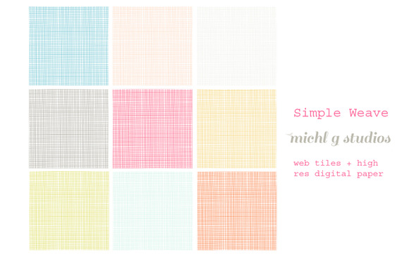 9 Simple Weave Web Tiles High Res